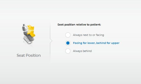 Seat Positioning, CEREC SW 5.1
